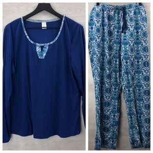 Liz Claiborne 2 Piece Pajama Set Size XL